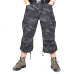 3/4 shortsit black camo
